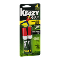 Krazy Glue Maximum Bond No Run Gel with Precision Tip - 2 CT