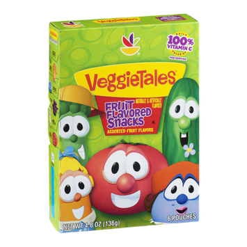 Ahold VeggieTales Fruit Flavored Snacks Pouches Assorted Fruit Flavors - 6 CT