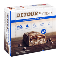 Detour Simple Whey Protein Bars Chocolate Chip Caramel - 12 CT