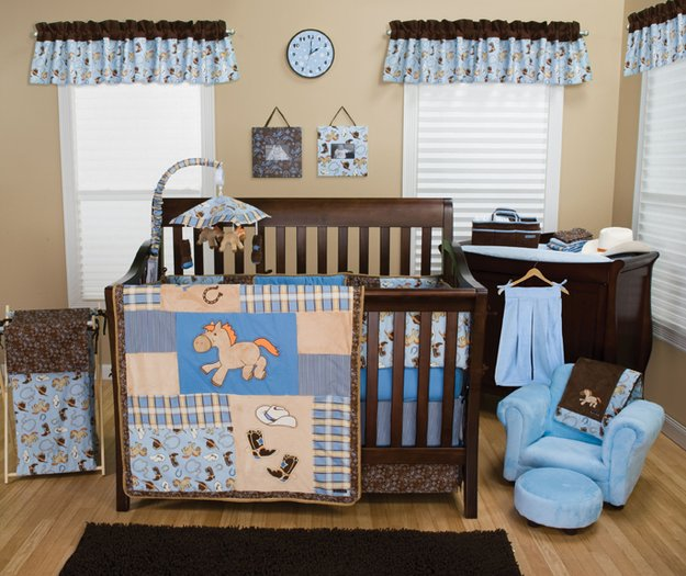 Trend Lab Cowboy Baby 3 Piece Crib Bedding Set