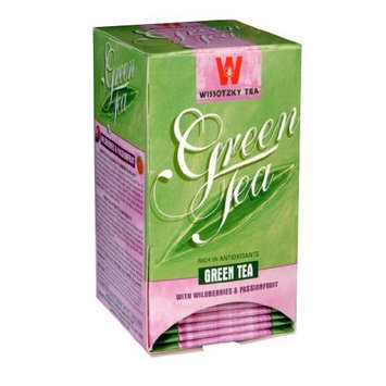 Wissotzky Green Tea with Wildberry and Passionfruit, 1.06-Ounce Boxes (Pack of 6)