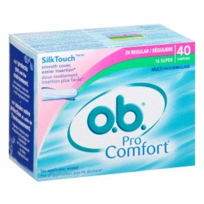 o.b. Pro Comfort Tampons, Multi-Pack, Regular & Super, 40 ea