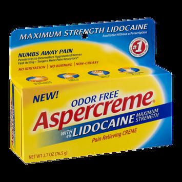 Aspercreme with Lidocaine Pain Relieving Creme Maximum Strength