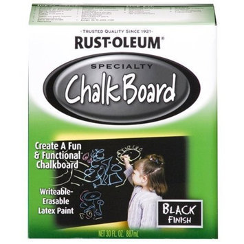 Rustoleum Rust-Oleum 206540 Chalkboard Brush-On, Black, 30-Ounce