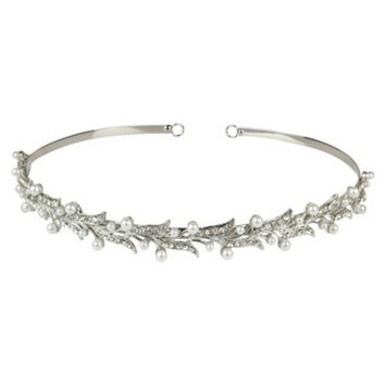 Social Gallery by Roman White Pearls and Crystals Headband - Clear