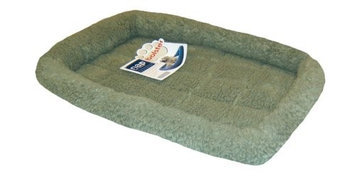 Furhaven Pet Products Berber Bolster Bed - 30 in. x 21 in. - Medium - Sage