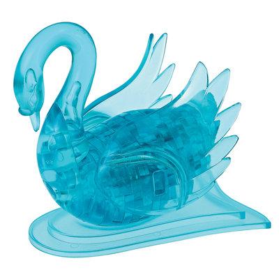 Bepuzzled 3D Crystal Puzzle - Swan (Blue): 43 Pcs