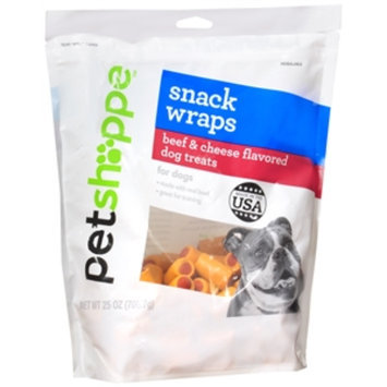 Pet Shoppe Snack Wraps Dog Treats, Beef & Cheese, 25 oz