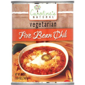 Caroline's Vegetarian Five Bean Chili, 20 oz, (Pack of 12)
