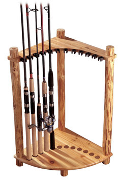 Rush Creek Corner Log 12 Fishing Rod Rack
