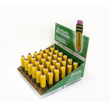 Dixon Ticonderoga Dixon Latex-free Pencil-shape Eraser - Latex-free, Smudge-free, Non-toxic - 36/box - Yellow (dix-38936)