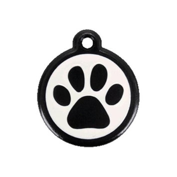 Red Dingo 05-PP-BB-LG QR Tag Introductory Paw Print Black Large