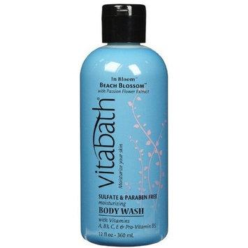 Vitabath Bath and Shower Gel, Beach Blossom, 12 Ounce