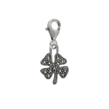 Mac's Marcasite Tiny Flower Charms