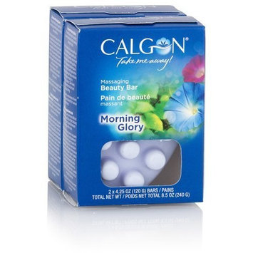 Calgon Massaging Beauty Bar - Morning Glory: 2 Bars