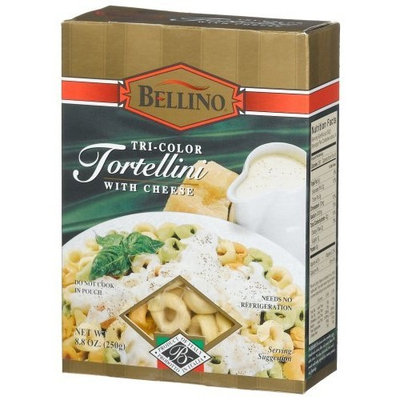 Bellino Tri-Color Tortellini with Cheese, 8.8-Ounce Boxes (Pack of 12)