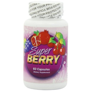 SuperBerry Amazon Extreme Super Fruit Complex! HIGH POTENCY Blend. 60 Capsules. Antioxidant Include: ACAI Berry, Blueberry, Goji Berry, Mangosteen, Hawaiian Noni, Black Cherry, Resveratrol, and more. Exotic Juice for Wellness and Energy Support