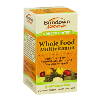 Sundown Naturals Concentrated Whole Food Multivitamin Coated Tablets - 90 CT