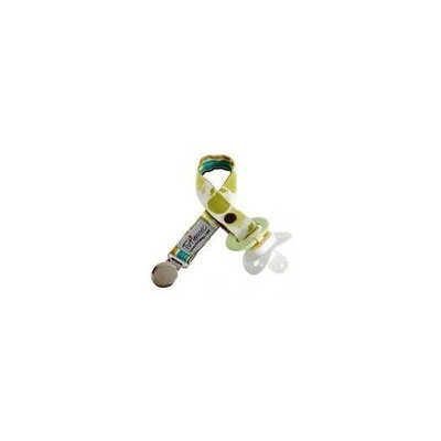 TutimNYC Paci Sitter Pacifier Clip Keeper - Green Apple