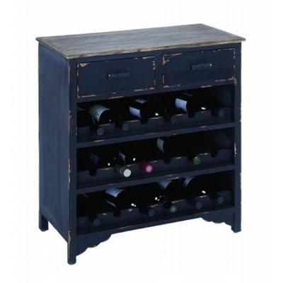 Benzara 35035 Wooden Wine Cabinet with Additional Storage Space