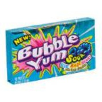 Bubble Yum Blue Razz Berry With Sour Crystals
