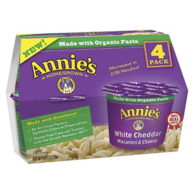 Annie's Homegrown White Cheddar Single Serving Microwavable Macaroni