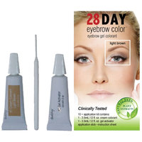 Innovative Beauty Products 28 Day Eyebrow Color Light Brown - Gel Colorant Covers Resistant Grays