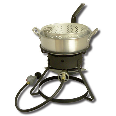 King Kooker Outdoor Cooker with Aluminum Fry Pan