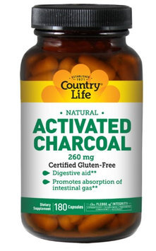 Country Life Activated Charcoal 260 mg - 180 Capsules