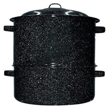 Granite Ware Black 19-qt. 2-pc. Clam/Lobster Steamer Set