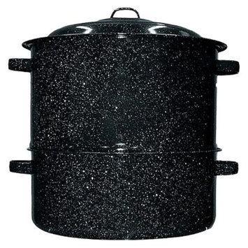 Granite Ware Black 19-qt. 2-pc. Clam/Lobster Steamer Set