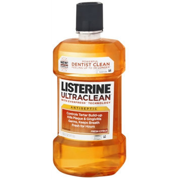 LISTERINE Ultra Clean Mouthwash, Fresh Citrus, 1 lt