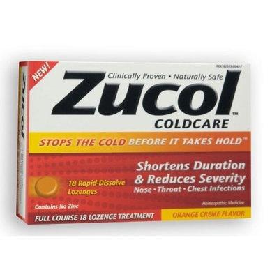 Zucol Cold Care - Orange CrΦme Zucol Coldcare - Orange CrΦme, 18 Rapid-dissolve Lozenges, .13 ounces Boxes (Pack of 6)