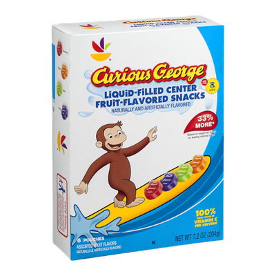 Ahold Curious George Liquid-Filled Center Fruit-Flavored Snacks - 6 CT