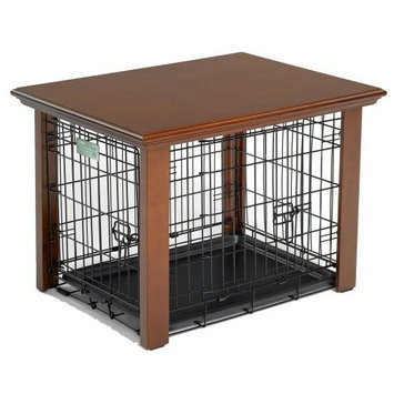 Midwest Homes For Pets Midwest Classic Collection Heritage Series Hardwood Pet Enclosure for 24-Inch Wire Crates