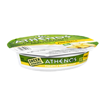 Athenos Greek Strained Pineapple Nonfat Yogurt