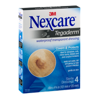 Nexcare Tegaderm Waterproof Transparent Dressing - 4 CT
