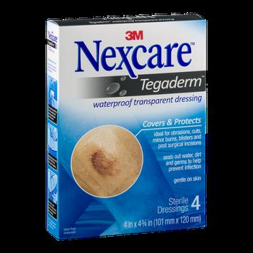 Nexcare Tegaderm Waterproof Transparent Dressing - 4 CT