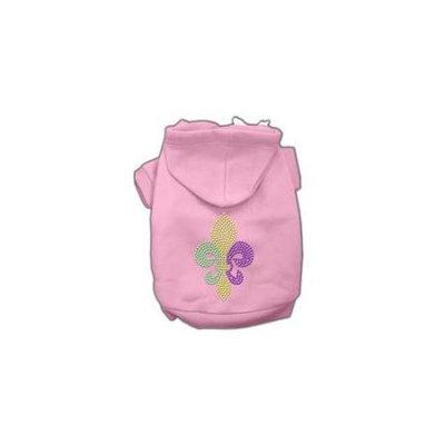 Ahi Mardi Gras Fleur De Lis Rhinestone Hoodies Pink L (14)