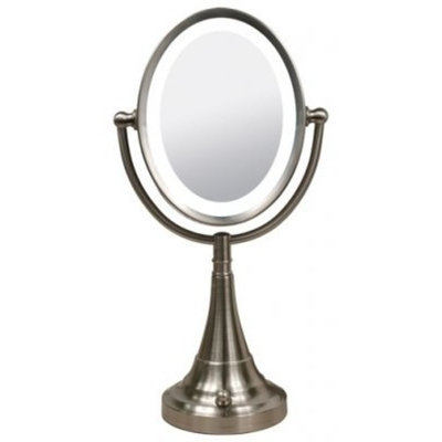 Zadro VANCOS1 8X To 1X Lighted Oval Vanity Magnification Mirror