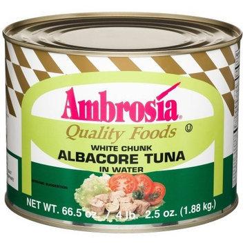 Ambrosia White Chunk Albacore Tuna In Water, 66.5-Ounce Can