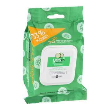 Yes To Cucumbers Soothing Facial Towelettes - 40 CT