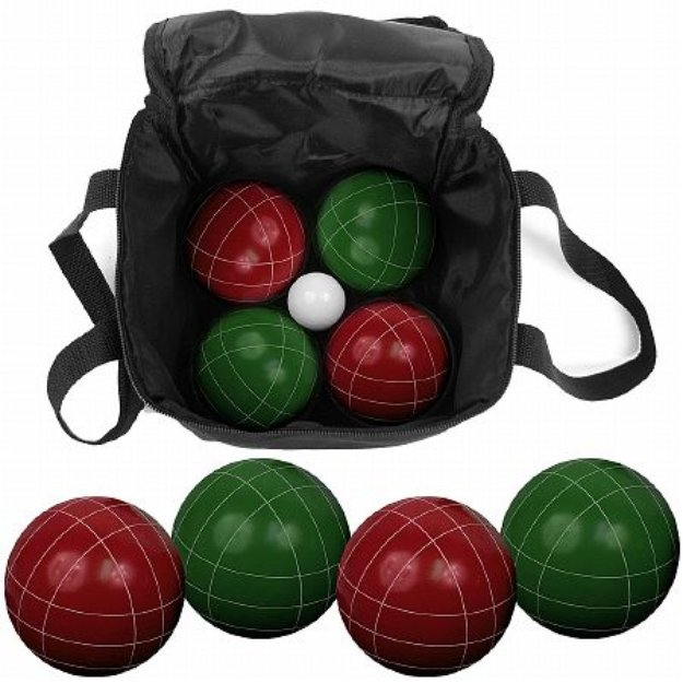 Trademark Global 9 Piece Bocce Ball Set with Easy Carry Nylon Bag