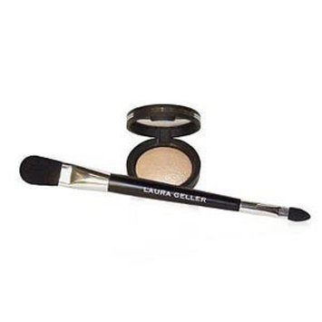 Laura Geller Beauty Baked Highlighter with double-ended face & eye applicator