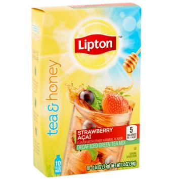 Lipton® Strawberry Açai Decaf Iced Green Tea To Go Packets