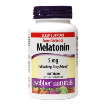 Webber Naturals Timed Release Melatonin 5mg, Tablets, 100 ea
