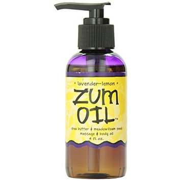 Indigo Wild Zum Massage Oil, Lavender Lemon, 4 Fluid Ounce