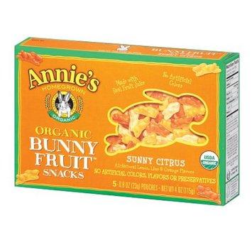 Annie's Homegrown Organic Bunny Fruit Snacks Sunny Citrus