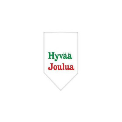 Ahi Hyvaa Joulua Screen Print Bandana White Large