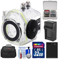 JVC WR-GX001 Underwater Marine Housing Case for GC-XA2 Adixxion Action Camcorder with 32GB Card + Battery + Charger + Case + Accessory Kit